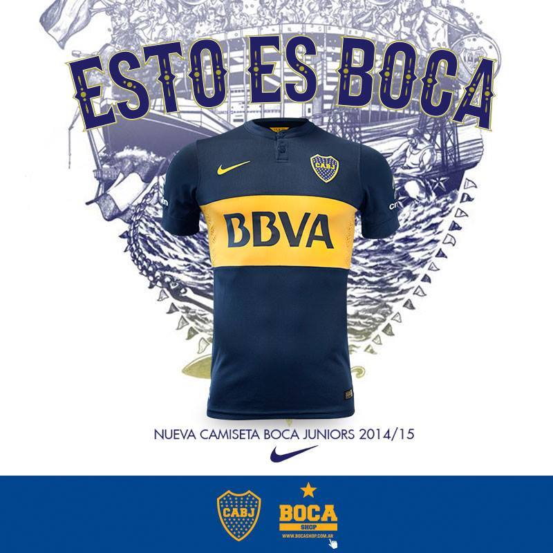 Boca Juniors Home & Away Kits 2014-15, by Nike | Pursuit Of Dopeness