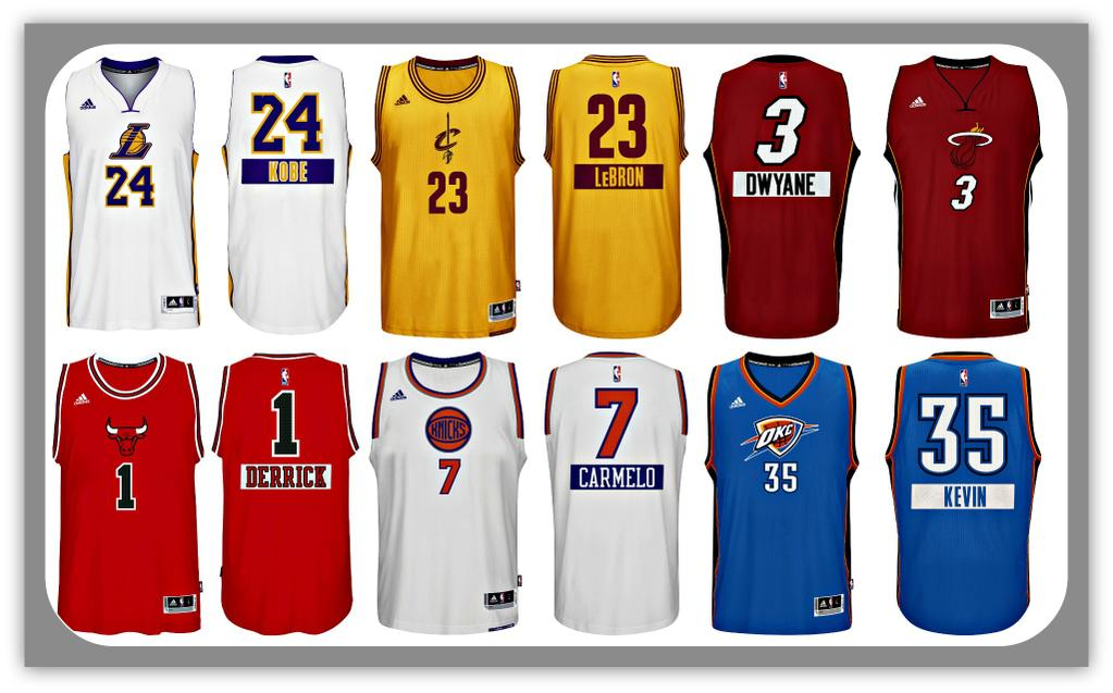 NBA Reveals 2014 Christmas Day Jerseys  720a82452