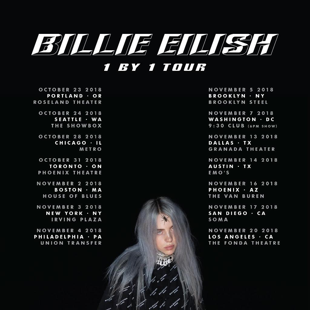 Billie Eilish Announces 2018 '1 By 1' North American Tour